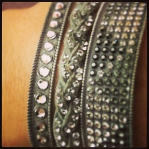 Trio de bracelets en Gris2