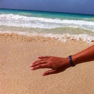 Sur une plage vers Puerto Rico