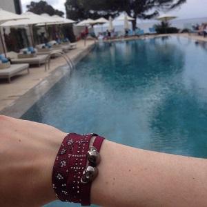 Bord de piscine à Ibiza