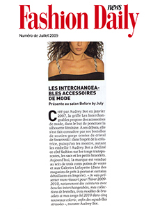 Fashion Daily News Juillet 2009