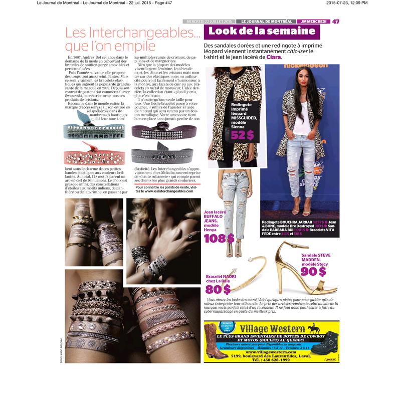 Le Journal de Montréal Juillet 2015