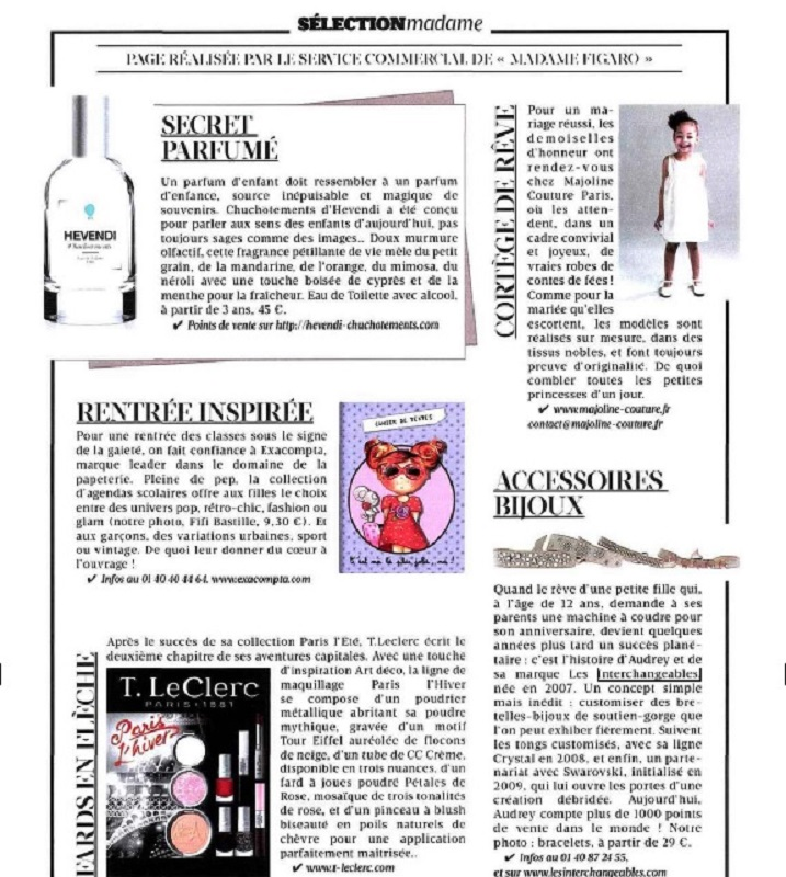 Madame Figaro Aout 2014